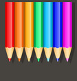 colored pencils set colors of rainbow vector image