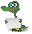 Crocodile and white background vector image vector image
