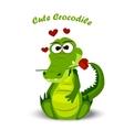 cute crocodile or alligator vector image vector image