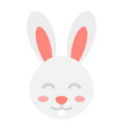 easter rabbit flat icon easter and holiday vector image