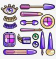 eye cosmetic icon vector image