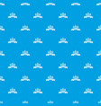 fence village pattern seamless blue vector image vector image
