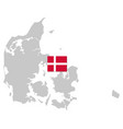 flag and map denmark vector image vector image