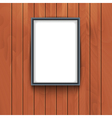 frame on wooden wall background Photo art vector image vector image