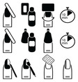 gel nails removal icons vector image