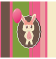 greeting card with cute bunny vector image vector image