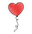 heart shaped balloons icon vector image vector image