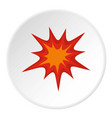 heavy explosion icon circle vector image vector image