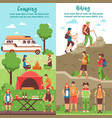 hiking group vertical banners vector image vector image