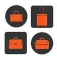 Icons bags vector image