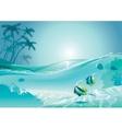 Island fish vector image vector image