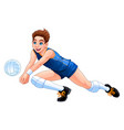 isolated volleyball boy player vector image