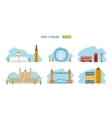 London United Kingdom flat icons design travel vector image vector image