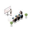 meeting room interior vector image