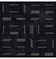 monochrome retro lines pattern vector image vector image