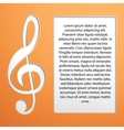 Music Note - treble clef vector image