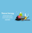 natural therapy banner horizontal concept vector image