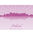 Oakland skyline in radiant orchid vector image vector image