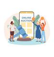 online auction concept vector image