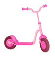 pink roller scooter for children balance bike vector image