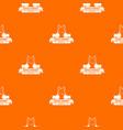 repair company pattern orange vector image vector image