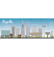 Riyadh skyline with grey buildings vector image vector image