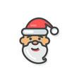 santa claus icon christmas vector image vector image