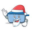 santa kitchen character cartoon style vector image vector image