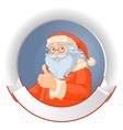 Santa with copy space logo vector image