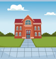 school building cartoon vector image