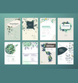 set brochure and annual report vector image vector image
