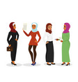 set of beautiful business arab vector image