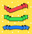 set of colored flat insulated ribbon banner on a vector image vector image
