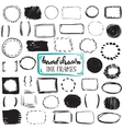 Set of sketch drawn frames vector image vector image