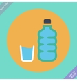 Set of water bottle and amp vector image