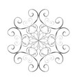 silver snowflake in oriental style vector image vector image