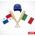 Symbols of Baseball team Panama and Mexico vector image vector image