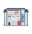 ticket office vector image vector image