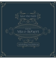 wedding invitation card with floral ornaments vector image vector image