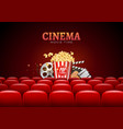 Movie cinema premiere poster design template vector image