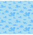 Pattern with fish in cartoon style vector image