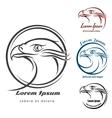 Eagle Head Logo Set vector image