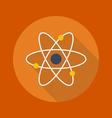 Education Flat Icon Atom vector image