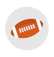 sports equipment rugby ball brown vector image