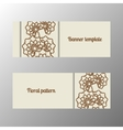 Horizontal banner template with flowers vector image