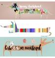 set with cute cartoon dachshunds vector image
