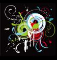 splash abstract background vector image
