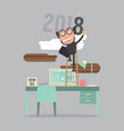 2018 year success vector image vector image