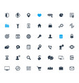42 icons set for web design apps and infographics vector image