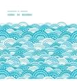 abstract blue waves horizontal frame seamless vector image vector image